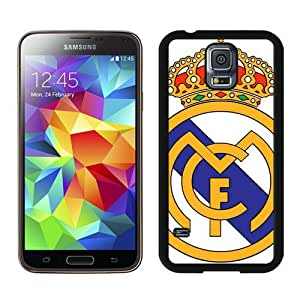 Case For Galaxy S5,Cool Real Madrid Logo Black Samsung Galaxy S5 i9600 Case