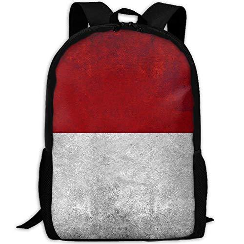 Vintage indonesische Flagge Erwachsenen Reise Rucksack Schule lässig Daypack Oxford Outdoor Laptop Tasche College Computer Umhängetaschen -