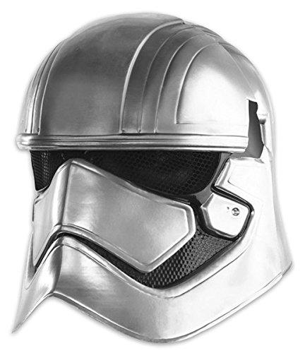 Star Wars VII Maske Captain Phasma für Erwachsene / 2-teiliger Helm silberfarben, bedruckt in ()