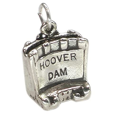 Hoover Dam sterling silver charm .925 x 1 Nevada Boulder Dams SSSC725