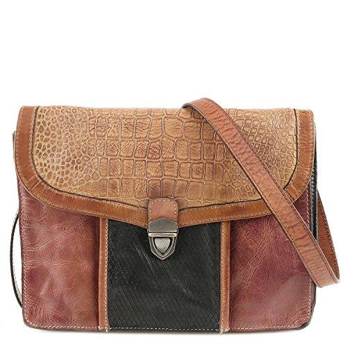 Taschendieb Damen Td0754 Umhängetaschen, 26x20x3 cm cognac cognac