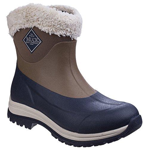 Muck Boots Arctic Apres - Bottes D'hiver Sans Lacets - Unisexe Marron / Rouge Foncé