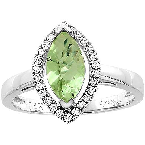 Revoni 14ct oro lazulí Natural del anillo Halo diamantes Marquesa 10 x 5 mm
