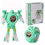 AOTE-D Kinderuhrprojektion Cartoon Verformung Toy Glow Elektronische Uhr Roboter,D