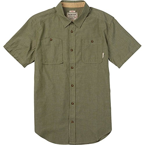 Burton Herren Hemd Glade Short Sleeve, Herren, Olive Night Chambray, Medium -