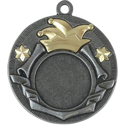 pokalspezialist 10 Stück Medaille Maria Karneval Fasching 50mm Orden Faschingsorden Metall - Maria Medaillen Von