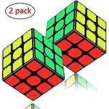 Aiduy 3x3x3 Speedcube Pack, 2 Pièces Speed Cube Set Cube Magique pour Les Enfants