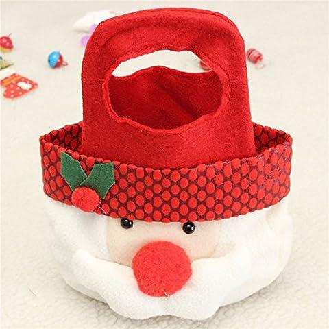 Tutoy Lovely Weihnachten Weihnachten Santa Clau Schneemann Elch Geschenk Spielzeug Süßigkeiten Tasche -Stanta Clau