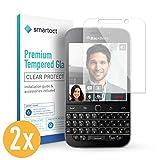 smartect Panzerglas für BlackBerry Classic Q20 [2 Stück] - Bildschirmschutz mit 9H Härte - Blasenfreie Schutzfolie - Anti Fingerprint Panzerglasfolie