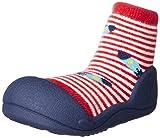 Attipas UFO (21.5, Rot) Kinder Barfußschuhe, ergonomische Baby Lauflernschuhe, atmungsaktive Kinder Hauschuhe ABS Socken Babyschuhe Antirutsch