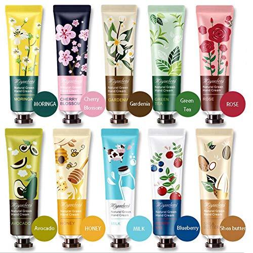 Ownest Paquet de 10 paquets de parfum pour les mains pour les mains avec crème de soin hydratant pour les mains et aloès naturel et vitamine E pour hommes et femmes-30 ml
