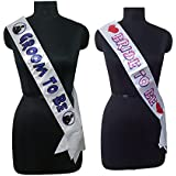 Generic Party Propz Bride To Be And Groom To Be Sash Bachelorette Party Supplies,