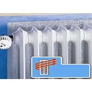 panneau r flecteur de chaleur en aluminium fixation velcro pour radiateur cuisine. Black Bedroom Furniture Sets. Home Design Ideas