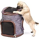 Migosset Zaino Trasporto per Cane, Gatto e Animali Fino a 12 kg - 30 x 24 x 41 cm