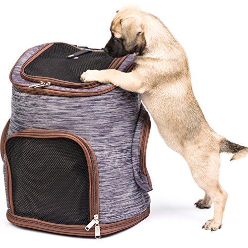 Migosset Rucksack atmungsaktive Outdoor - Reise Schultertasche Tragetasche für Hunde, Katzen bis 15kg, Gut zum Trekking - 30 x 24 x 41 cm