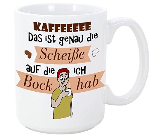 Taza en alemán - taza de café como regalo para el café bebedor de té. Es solo una mierda, ¡soy una perra! - 350 ml - Tazas bellas y divertidas con dichos, para dar ...