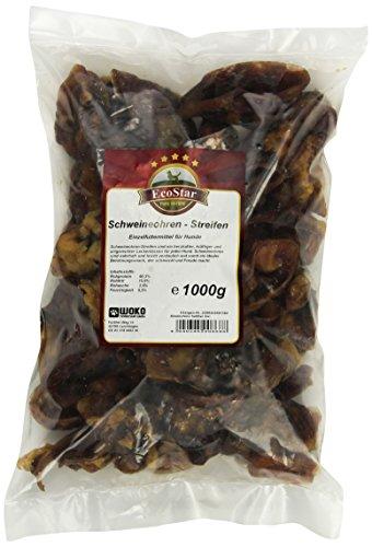 EcoStar Perros Snack schw eineo escuchar de rayas 1kg, 1er Pack (1x 1kg)