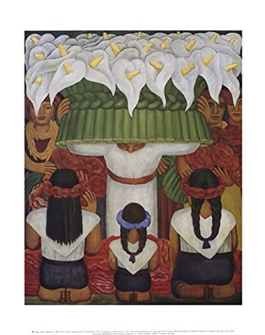 Dimensions : 11 x 14) Diego Rivera fleur Festival Feast de Santa Anita 1931 Art Poster Print