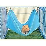 Kamoku101 Winter Warm Plüsch Hängematte Swing zum Aufhängen Bett Nest Haus für Pet Syrische Hamster Gerbil Rat Maus Chinchillas Guinea Pig Eichhörnchen Kleintierkäfig Spielzeug