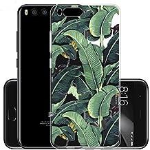 """Funda para Xiaomi Mi Note 3 (No aplicable a Xiaomi Redmi Note 3) , IJIA Transparente Verde Hojas de Plátano TPU Silicona Suave Cover Tapa Caso Parachoques Carcasa Cubierta para Xiaomi Mi Note 3 (5.5"""")"""