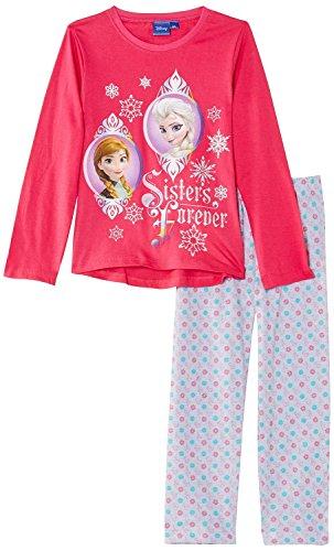 Official Disney Frozen Sisters Anna Elsa Long Sleeve Pyjama PJs Pyjamas For Kids Girls