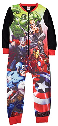 Various tuta intera in pile personaggio pigiama per bambini all in one pj taglia uk 1 – 10 anni marvel avengers - the avengers 7-8 anni