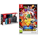 Nintendo Switch - Blu/Rosso Neon + Pokkén Tournament DX