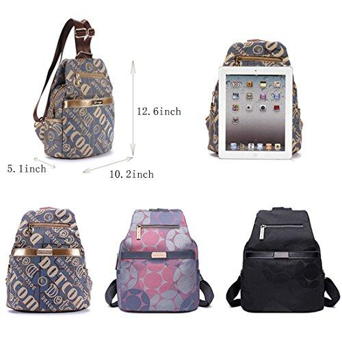 MATAGA Leinwand rucksack für frauen umhängetasche tasche handtasche rucksack zur schule fahren rucksack JH-311 Blau