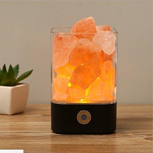 USB Himalaya Salz Lampe Natürlichen Kristall Führte Kleine Tischlampe Luftreiniger Emotion Creator Indoor Warm Licht Lampe Schlafzimmer Lava Lampe,Black - Himalaya-natural Rock