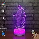 3D Visuelle Lampe Optische Täuschung LED Nachtlicht, Erstaunliche 7 Farben Gott Form Berührungsempfindliche Schalter Lampen Mit Acryl-Wohnung, USB-Gebühr Für Inneneinrichtungen
