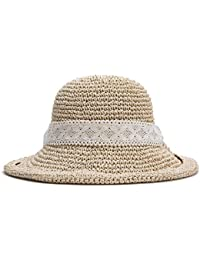 NINHAOA Sombreros Mujeres Sombrero De Paja De Color Caqui Gorra De Pesca  para Mujer Plegable Elegante 9c155069e8c