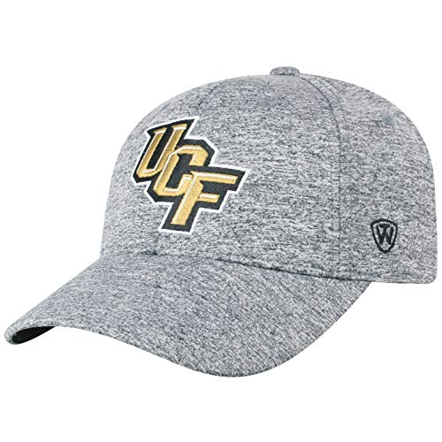 Top of the World NCAA Central Florida Golden Knights Men's Adjustable Steam Charcoal Icon Hat, Grey Ucf Golden Knights