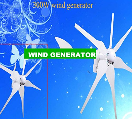Gowe Breeze Start Up éolienne 300 W, 12 V/24 V auto. distinguer, Brushless Rare Earth aimant permanent Générateur/alternateur