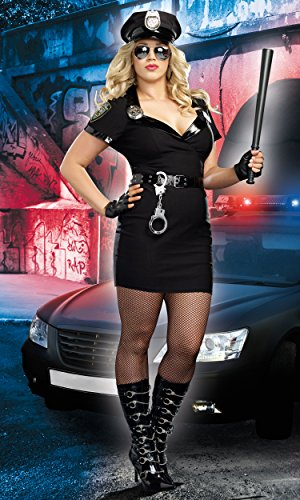 Dirty Cop Kostüm - Dreamgirl 8816 X Dirty Cop Officer Anita Braut Kostüm (3 x/4 x große)