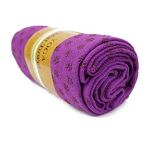"""CHIC-CHIC Tapis Antidérapant Premium Couverture Yoga Pilates Serviettes Sport Fitness Exercise Mat (Violet , 183*61cm/72.0""""*24.0"""")"""