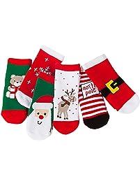 Calcetines Altos Bebe Calcetines Algodon Calcetines De Invierno Color Coral Terciopelo Cama Cálida Dormir Calcetines Navidad