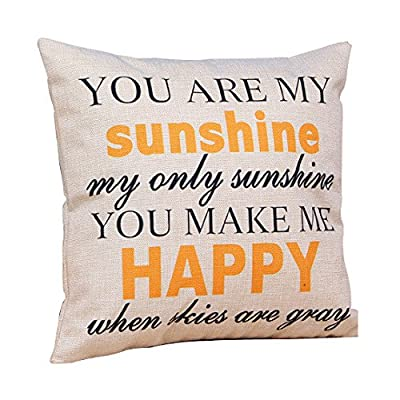Cutebaby Home Cotton Linen Leaning Cushion Throw Pillow Covers Pillowslip Case - inexpensive UK cushion store.
