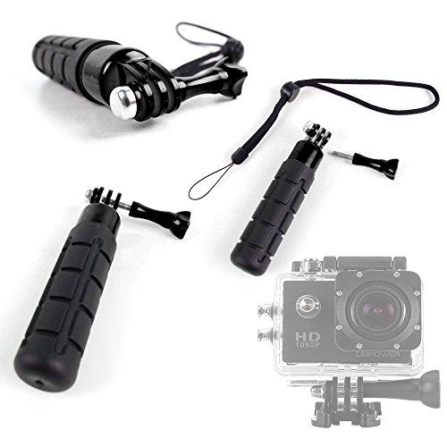 Poignée NOIRE compacte pour Excelvan TC-DV6, TC-Y8, TC-J6, TC-Q5, Q6 et Eyes GO - caméra embarquée - DURAGADGET