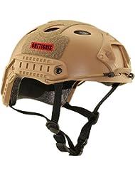 OneTigris protección para paintball casco multifunción Deporte casco casco táctico sin gafas, canela