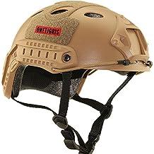 OneTigris - Casco de protección para paintball, deportes, multifunción, táctico sin gafas, canela