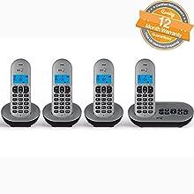 BT 3580 Quad Digital Cordless Telephone with Answer Machine - Nuisance Call Blocker
