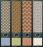 4er Set Ordnerrücken für breite Ordner Pattern Muster Aufkleber Etiketten Deko 322