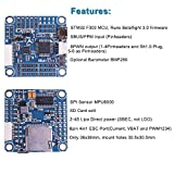 LITEBEE F3 Flight Controller V2 Integrated OSD (SBUS/PPM Input, 8PWM Output, SD Card Solt, 2-4S Lipo Direct Power, 8 Pin 4in1 ESC Port) for PFV Racing RC Drone Quadcopter by