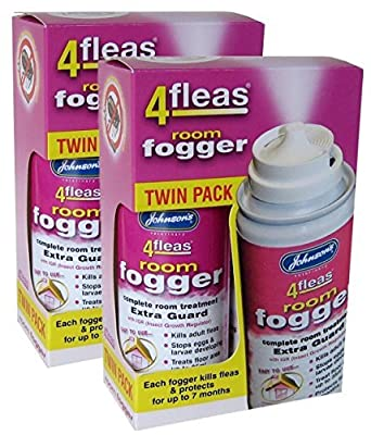 2 X Johnson's Veterinary Flea Killer Bomb Room Fogger Multi pack by Johnson's