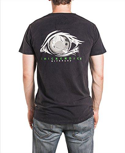 CHICKENDICK KITESURF Herren T-Shirt KiteVision schwarz Black