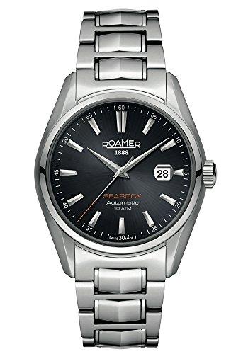 Roamer Herren Analog Automatik Uhr mit Edelstahl Armband 210633 41 55 20