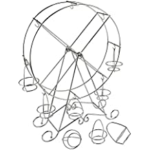Kicode Sostenedores del sostenedor de la magdalena 8 copas Acero inoxidable de plata Portador Rueda de la fortuna Para fiestas de tema de circo, cumpleaños, bodas y más
