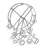 Kicode Cupcake Standhalter Zubehör 8 Tassen Silber Edelstahl Trägerhalter Riesenrad Für Zirkus-Thema-Parteien, Geburtstage, Hochzeiten u. Mehr