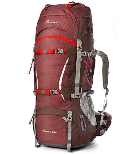 Mountaintop 70L+10 Zaino Trekking Impermeabile Escursionismo montagna campeggio alpinismo viaggio 5805II 85*35*30 CM