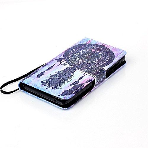 Hülle für Apple iPhone 5 5S SE - Yihya PU Leder Schutzhülle Handyhülle Magnetic Closure Style Flip Wallet [Stand Function] Cover Case mit Cards Slots und Lanyard Strap + Stylus Pen--Stil 09 Stil 08